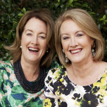 With her twin sister Jane Latimer.
