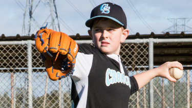 Year 6 Little League player Damien Wilson would love to play in the Major Baseball League.