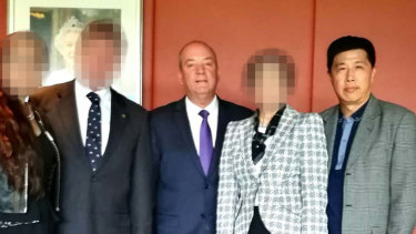 Then Liberal MP Daryl Maguire and Ho Yuen Li in Parliament House.