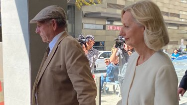 Don and Carol Spiers leave the District Court in Perth after Bradley Edwards was acquitted of the murder of their daughter Sarah.