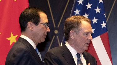 US Trade Representative Robert Lighthizer, Chinese Vice Premier Liu He and Treasury Secretary Steven Mnuchin spoke by phone on Tuesday.