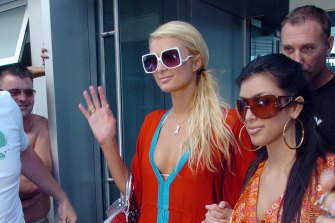 A picture of Paris Hilton and Kim Kardashian in The Herald gave Widdicombe a news break.