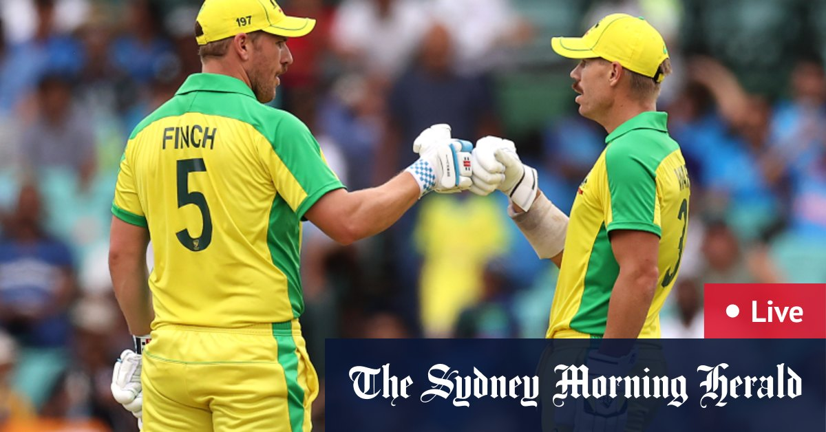 Australia v India LIVE updates: Half-centuries to David Warner Aaron Finch and Steve Smith put Australia in box seat – The Sydney Morning Herald
