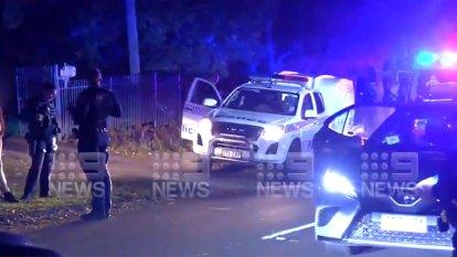 Man dies of gunshot wounds, car runs another down in wild street brawl