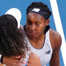 Coco Gauff (top) became the youngest player to defeat a defending major champion in Naomi Osaka.