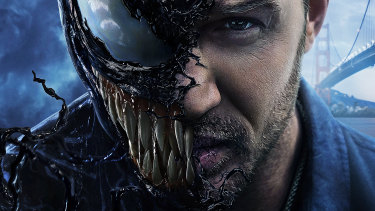 Tom Hardy plays Venom, a hybrid that emerges from the fusion of journalist Eddie Brock and an alien 'symbiote'.