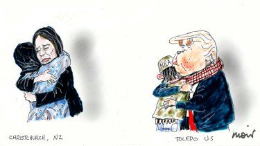 A tale of two cities. Illustration: Alan Moir