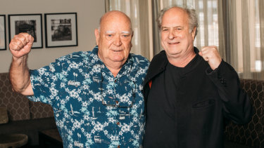 Friends till the end... Chugg and Gudinski in recent times.