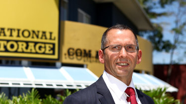 National Storage, led by Andrew Catsoulis, has received two takeover offers in the past weeks. Shares gained 6.2 per cent on Monday, helping boost the real estate sector higher.