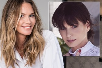 Elle Macpherson and WelleCo founder Andrea Horwood, inset.