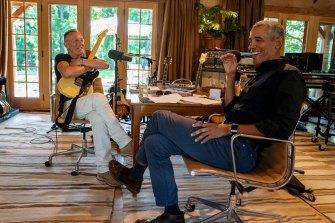 Bruce Springsteen and Barack Obama both felt like outsiders growing up.