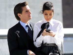 Scott Disick and Kourtney Kardashian in slicker times.