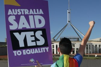 Australians voted yes to same-sex marriage in a postal vote held in 2017.
