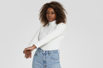 A turtleneck and straight-leg jeans: there's a third of your capsule done.
