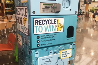 A reverse vending machine introduced by Wyndham City Council.