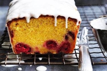 Helen Goh's lemon and raspberry loaf cake.