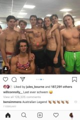 Ben Simmons commented on one of Will Connolly's Instagram photos, before the page was deleted.