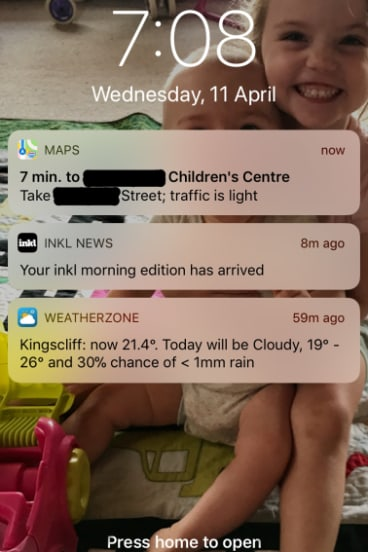 The notification that got my attention.
