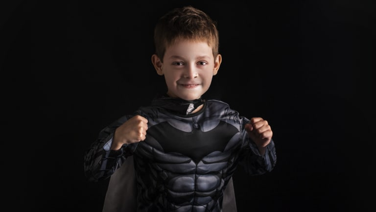 Max de Beaux loves dressing up like Batman.