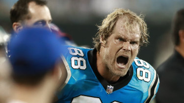 Sidelined: Panthers tight end Greg Olsen.