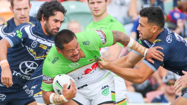 Raiders centre Joey Leilua was an excitement machine against the Cowboys.