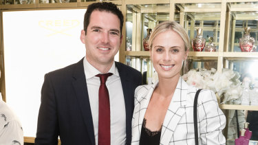 Peter Stefanovic and Sylvia Jeffreys at the opening of the Creed Australian flagship store in Double Bay on Wednesdey.