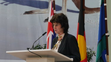 Saxony state minister for education and research, Dr Eva-Maria Stange, at the ceremony.