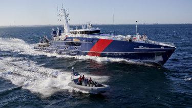 A Cape-class vessel built by Austal for the  Australian Border Force.