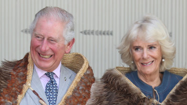 Prince Charles, Prince of Wales and Camilla, Duchess of Cornwall in New Zealand.