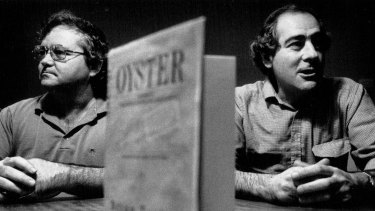 Brian Toohey and William Pinwill, the co-authors of Oyster, pictured in 1989.