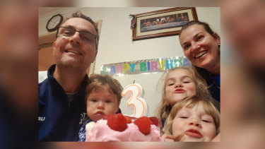 Tomislav Perinovic, 48, and his wife Katie, 42. Ms Perinovic and their three children aged 3, 5, and 7 were found dead in their Tullamarine home.