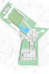 An aerial view of the planned development submitted to Bayside Council.
