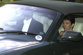 Ghislaine Maxwell, driven by Prince Andrew, leaves the wedding of a former girlfriend of the duke in 2000.