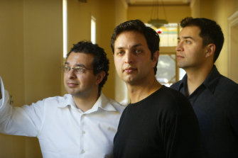 Saad Mohseni (left) with brothers Jahid and Zaid, left their lives in Melbourne to start post-Taliban TV and radio stations in Afghanistan.