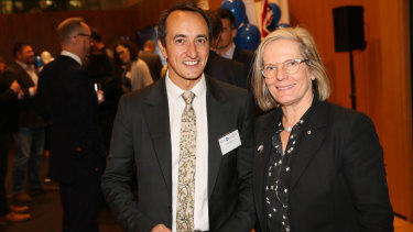 Dave Sharma was supported by former prime minister Malcolm Turnbull and wife Lucy Turnbull.