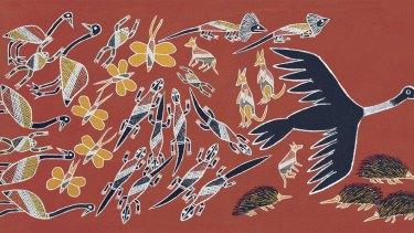 Johnny Warrkatja Malibirr's illustrations honour the elements.