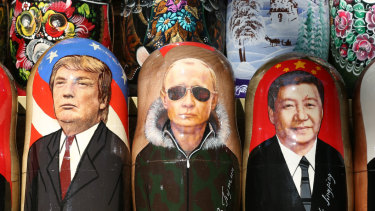 A Putin matryoshka doll squeezed between Donald Trump and Xi Jinping: Russia's plan could be torpedoed by the US trade war with China and its damage to the world economy.