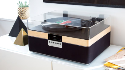 Serious all-in-one record player makes getting started easy