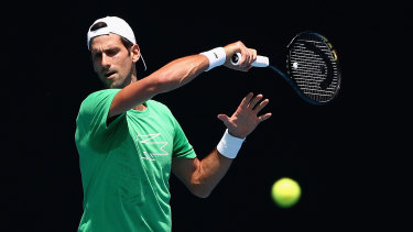 Djokovic was put through his paces at Melbourne Park on Sunday.