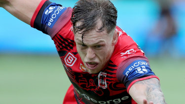 Cam McInnes was injured in the final of the NRL Nines in Perth.