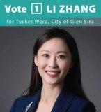 Li Zhang is running for the Glen Eira City Council.