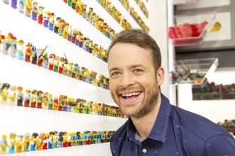 Hamish Blake is the host of LEGO Masters, one of the shows that has helped propel Nine to victory in 2019.