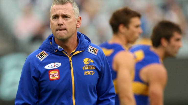 Eagles coach Adam Simpson has a 99.7% approval rating with fans.