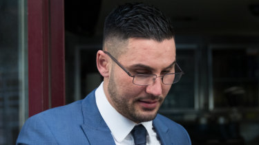 Salim Mehajer outside court in June last year. He is currently serving a jail term in Cooma Correctional Centre.