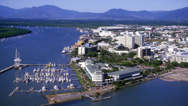 Aerial view of Cairns North Queensland.  australia tra23-rants