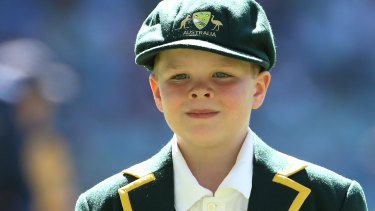 Make-a-Wish junior Australian Captain Archie Schiller.