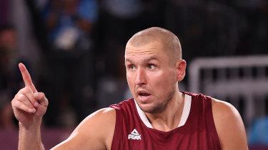 Latvia's Edgars Krumins.