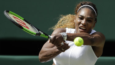 A rampaging Serena Williams returns to Barbora Strycova in the Wimbledon semi-final.