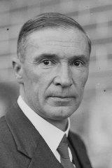 Under attack: Tom Paterson, Minister for the Interior, circa 1936