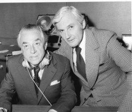 ABC executive CharlesGrahame (right) with presenter Wilfrid Thomas.